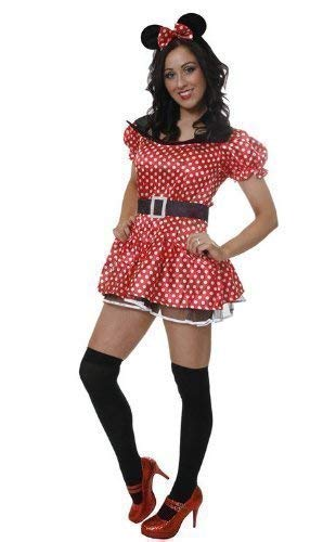 Sexy Minnie Mouse Fancy Dress Outfit Size 10-12 (disfraz): Amazon ...