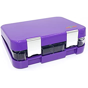 Bento Box 4 Section Tray with Removable, Lunch Box For Kids &Adults, Tritan Safe Food Materials , Easy To Clean, Lunch Storage Container 2 Buckles, Salad Box Of Purple