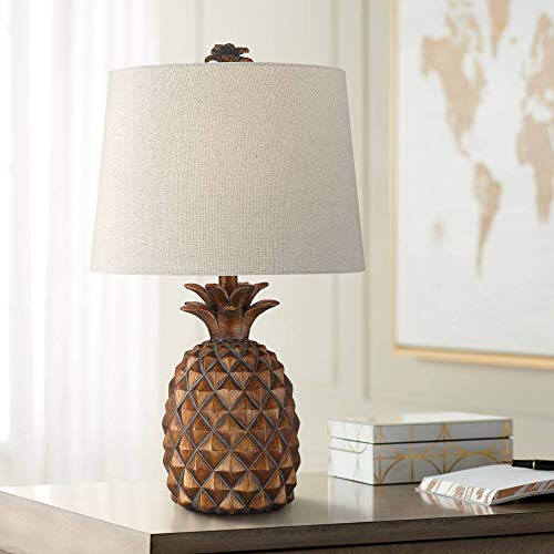 (Paget Brown Pineapple Accent Table Lamp - Regency Hill)