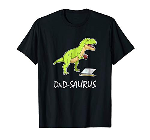 DnD Saurus - Dinosaur Game Master T Shirt Dragons Men Women