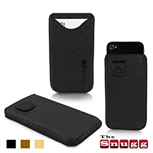 Snugg iPhone 4 / 4S Case - Leather Pouch with Lifetime Guarantee (Black) for Apple iPhone 4 / 4S