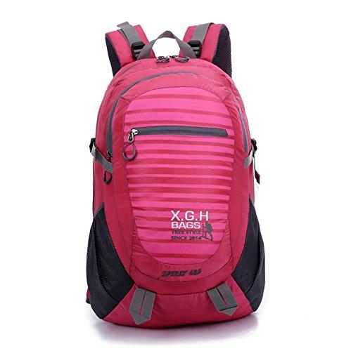 LINGE-Grandes viajes de montañismo bolso mochila impermeables deportes al aire libre al aire libre para hombres y mujeres 45L , orange Pink