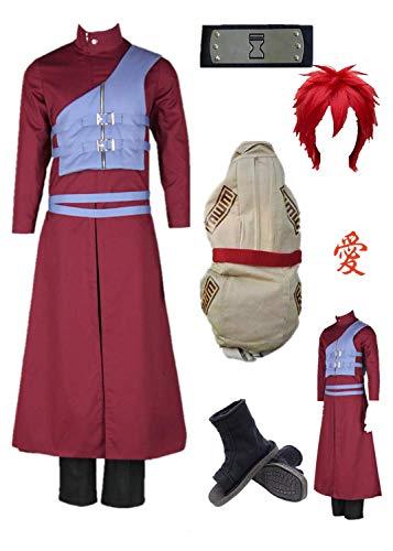 Gaara Cosplay Costumes - US Size Shippuden Gaara Purple Vest