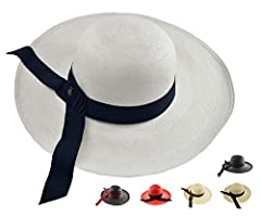 BEAUTIFUL & PROTECTING  This classy lady panama hat provides excellent shade for your face while providing an elegant touch to your outfit. A beautifully handmade Panama hat using only the best quality toquilla straw fibers. Adds this ext...