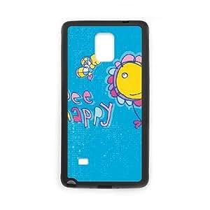 Bee Happy Samsung Galaxy Note 4 Cell Phone Case Black DIY Gift xxy002_5081848