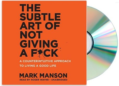Book cover from {The Subtle Art of Not Giving a F*ck Audiobook}(The Subtle Art of Not Giving a Fuck Audiobook}by Mark Manson