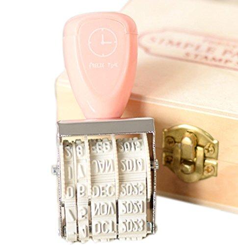 - Easy Grip Adjustable Date Stamper 4 Bands, Pink