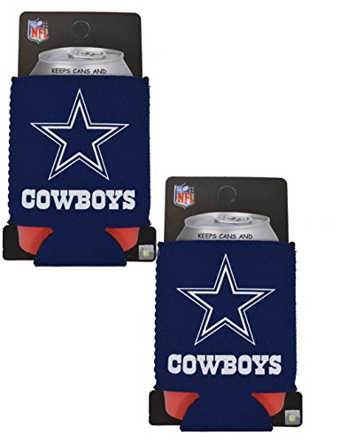 Kolder Dallas Cowboys Cooler - Official National Football League Fan Shop Authentic 2-Pack NFL Insulated 12 Oz Can Cooler (Dallas Cowboys)
