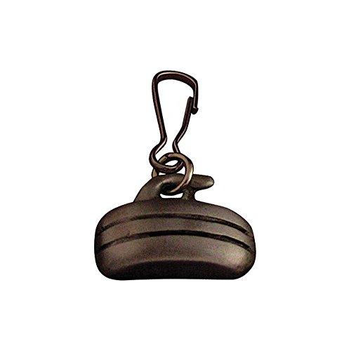Curling Rock Zipper Pull: Pewter (Pewter Rock)