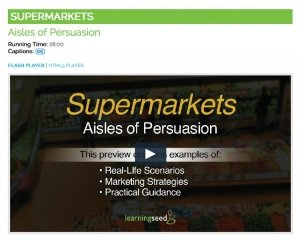 Supermarket Shopping Video on DVD by Nutrition Education Store