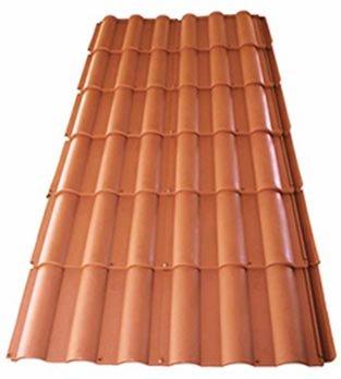 Plaque Imitation Tuile Couleur Terre Cuite Avec Fixations Lot De 2 Plaques 4 M2