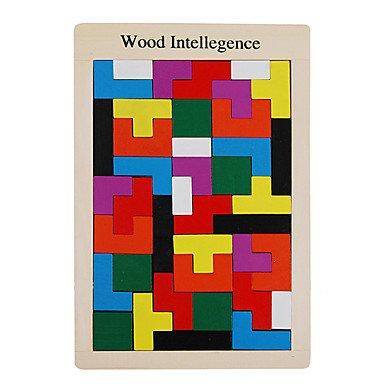 I blocchi di Tetris in legno giocattolo educativo giocattolo 123