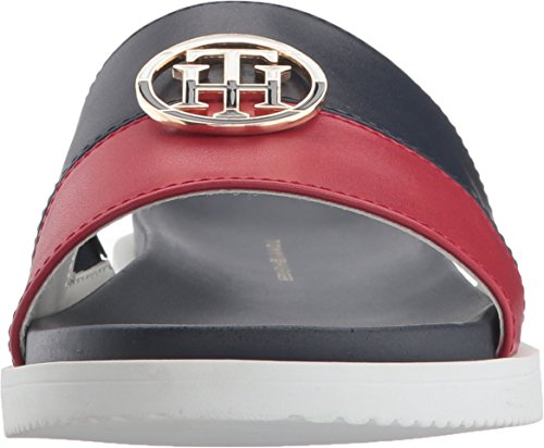 Tommy Hilfiger Women's Souli Slide Sandal Navy/Red GdSQJGacr