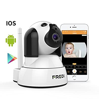 FREDI Wireless Camera Baby Monitor 720P HD Wireless Security Camera With Two-Way Talking,Infrared Night Vision,Pan Tilt,P2P Wps Ir-Cut Nanny ip Camera Motion Detection from FREDI