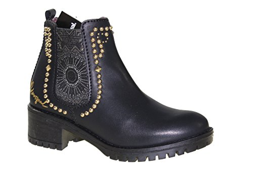Desigual Damen Shoes_charly Blackstud Chelsea Boots Schwarz