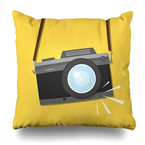 - Kutita Decorative Pillow Covers 20 x 20 inch Throw Pillow Covers, Retro Vintage Camera Flat Style Design Photo Shooting Pattern Double-Sided Decorative Home Decor Pillowcase