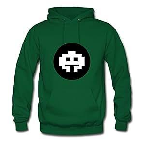 Stylish Casual Customizable Long-sleeve Pixel Creature Women X-large Green Hoodies