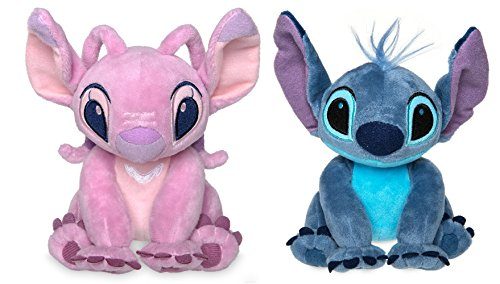 Disney Lilo Stitch - Disney Store Stitch & Angel Mini Plush Doll Set - Lilo & Stitch - 6 Inch Seated