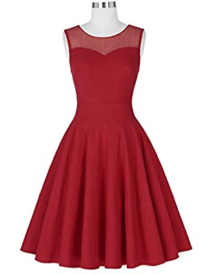 Kate Kasin Sleeveless Cocktail Party Dress Pleated A-Line Semi Formal Dress KK391