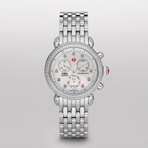 MICHELE Women s MWW03M000114 CSX-36 Stainless Steel Watch with Link Bracelet