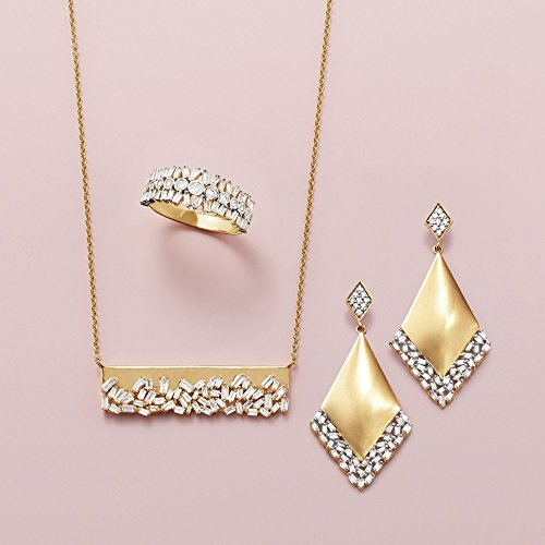 Ross-Simons .59 ct. t.w. Baguette Diamond Bar Necklace in 14kt Yellow Gold by Ross-Simons (Image #2)