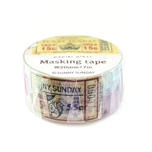 Wholesale Papier Platz Japanese Washi Masking Paper Tape / Sunny Sunday / Collage / Tickets (Tickets [37-637]) for cheap