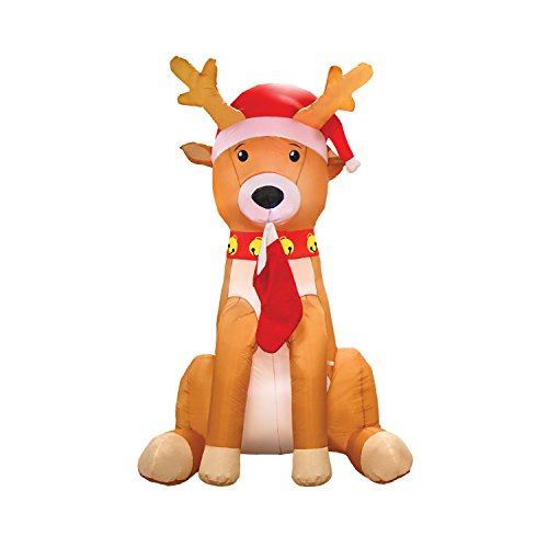 AirFormz AIR12508 Airblown Inflatable Holiday Yard Decoration, 7.5' Tall, Reindeer