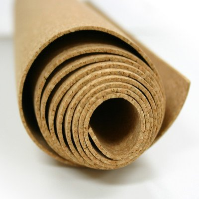Natural Cork Roll Size: 4' H x 8' W x 0.125