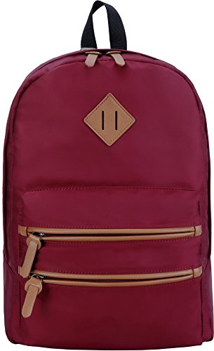 Gysan Lightweight Waterproof Travel Backpack 15 Inch Laptop for Womens Mens Boys Girls College School Bookbags, Red