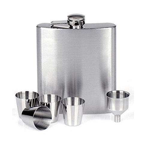 XYJHER Stainless Steel Hip Flask 18oz/510ml Outdoor Portable Hip Flask Mirror Polished Wine Pot Alcohol Flagon with Funnel Hip Flask