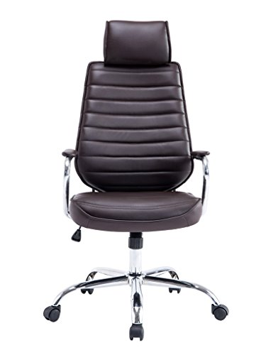 Wylang High Back Executive Office Chair PU Leather Swivel price