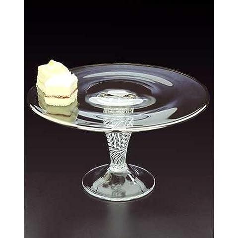 Reed & Barton Crystal 13-Inch Pedestal Cake Stand - Crystal Platinum Cake Stand