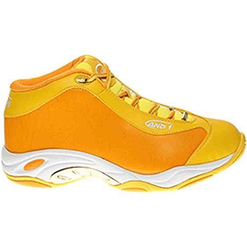 AND ONE SCARPE Scarpe Basket And1 Tai Chi Mid, Art. D1055m YYW, Colore Giallo.