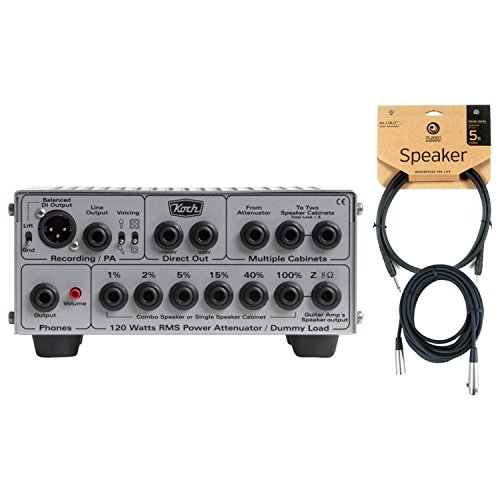 - Koch Load Box II 8 Ohm, 120W Power Attenuator, Speaker Simulator, and DI w/ Speaker Cable and XLR Cable
