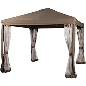 Abba Patio 10x10 Feet Fully enclosed Garden Canopy with Mesh Insect Screen - Brown  sc 1 st  Amazon.com & Amazon.com : Abba Patio 10x10 Feet Fully enclosed Garden Canopy ...