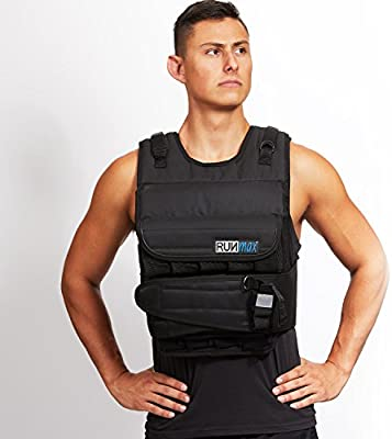 RUNFast 12lbs-140lbs Weighted Vest (with Shoulder Pads, 100lbs)