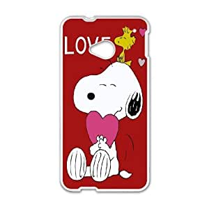 HTC One M7 cell phone cases White Charlie Brown and Snoopy MN715968