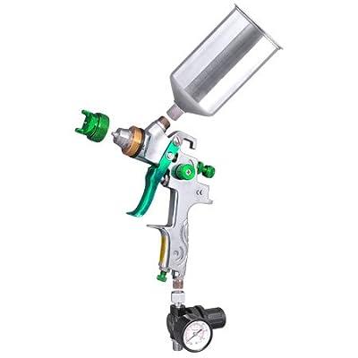 2.5 Tip HVLP Spray Gun Auto Paint Metal Flake w/ Gauge Coat Primer Gravity Feed