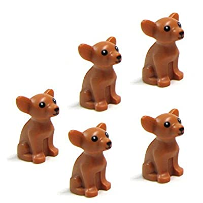 LEGO Friends 5 pcs CHIHUAHUA DOG LOT NEW Animal Minifigure Minifig Figure pet shop doggy puppy girl boy: Toys & Games
