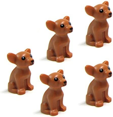 LEGO Friends 5 pcs CHIHUAHUA DOG LOT NEW Animal Minifigure Minifig Figure pet shop doggy puppy girl boy