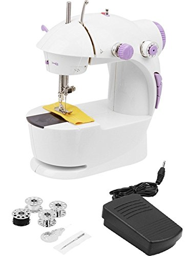 EVERYTHING IMPORTED Polycarbonate Battery Cum Electric Magic Mini Cool Mini Sewing Machine Use