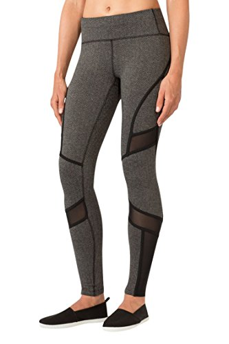 MPG Women's Julianne Hough Collection Shuffle Herringbone Legging XS Black Herringbone
