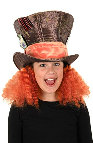elope Disney's Alice Through The Looking Glass Madhatter Hat with Hair
