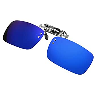 4127471fcc Vertily Outdoor Detachable Night Vision Lens Driving Polarized Clip On  Glasses (Blue)