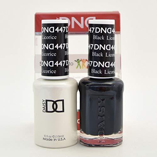DNDDuo Gel (Gel & Matching Polish) Fall Set 447 - Black Licorice by DND Gel