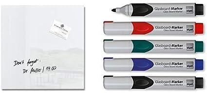 Boardmarker für Glas-Magnettafeln weiß Farbe