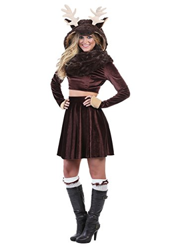Women's Moose Costume Medium Brown -