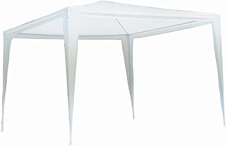 SF Savino Filippo - Carpa para jardín, bar, camping, de metal, 3 x 3 m, lona blanca impermeable para ferias: Amazon.es: Jardín