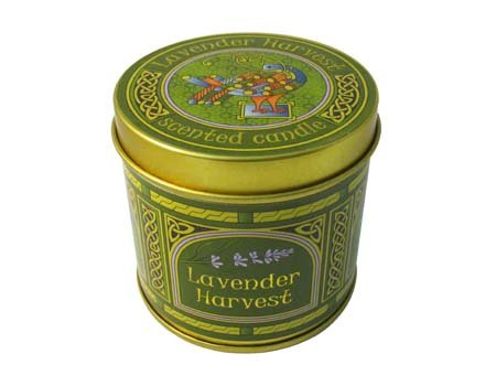 Lavender Harvest Fragrant Irish Candle-Peacock -