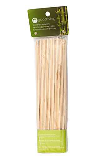 - Good Living Set of 100 10-Inch Bamboo Skewers for Meat and Other Dishes, 1-pack